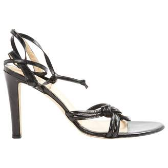 Trussardi Black Leather Sandals