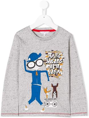 Little Marc Jacobs Mr Marc printed top