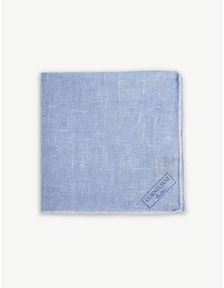 Corneliani Printed linen pocket square