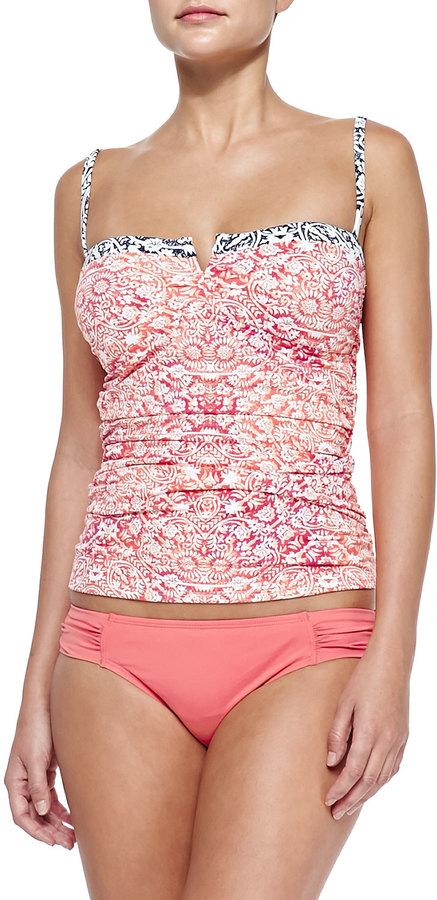 Tommy Bahama Printed Ruch-Side Tankini Top 2