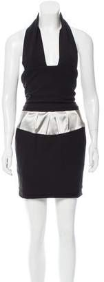 Preen by Thornton Bregazzi Preen Halter Knee-Length Dress w/ Tags
