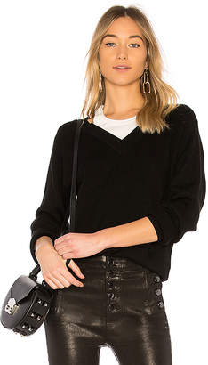 Alexander Wang Off the Shoulder Sweater with Inner Tank