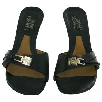 Gianni Versace Leather Mules