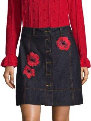 Kate Spade New York Denim A-Line Mini Skirt