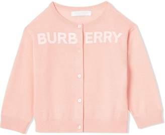Burberry Logo Print Cashmere Two-piece Set