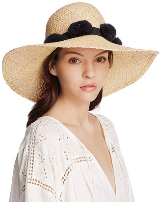 kate spade new york Pom-Pom Sun Hat $98 thestylecure.com