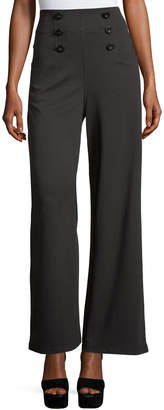 Max Studio Printed Ponte Full-Leg Pants