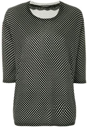 Twin-Set polka dots knitted blouse