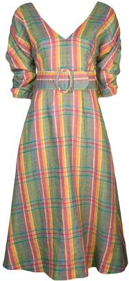 Nicholas belted check dress