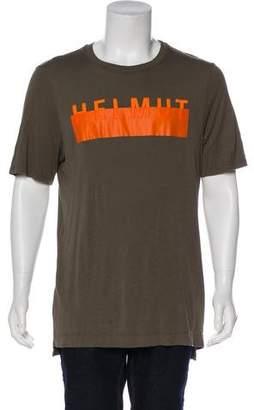 Helmut Lang Logo Graphic Print Longline T-Shirt