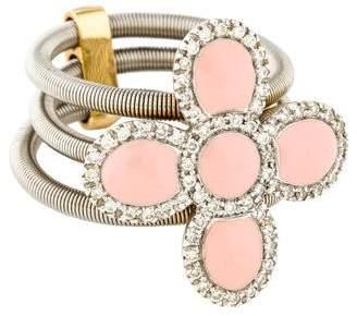 Roberto Coin Enamel & Diamond Flex Ring
