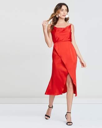 Freya Cowl Neck Satin Dress