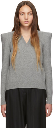 Stella McCartney Grey Wide Shoulder Sweater