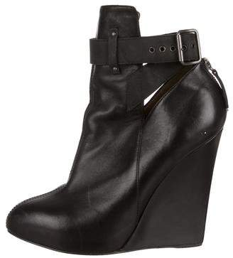 Proenza Schouler Leather Pointed-Toe Wedge Ankle Boots