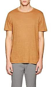 Theory Men's Essential Slub Linen T-Shirt - Orange
