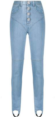 Alessandra Rich Fab high-rise jeans