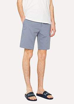 Paul Smith Men's Sky Blue Stretch-Cotton Shorts