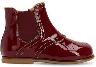 Ocra Patent Leather Boots
