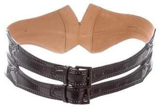 Alaia Patent Leather Waist Belt