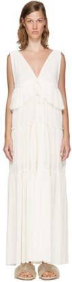 See by Chloe Off-White Long Gauze Jersey Dress