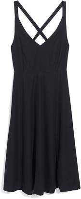 Madewell Cross Back Midi Dress