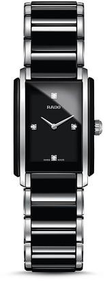 RADO Integral S Quartz Jubile Ceramic & Stainless Steel Watch with Diamonds, 22mm $2,200 thestylecure.com