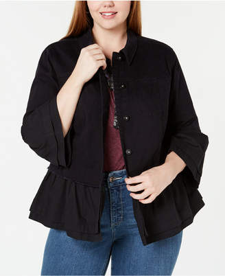 Style&Co. Style & Co Plus Size Tiered Denim Jacket
