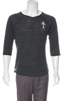 Chrome Hearts Logo Print Raglan T-Shirt