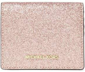 MICHAEL Michael Kors Glittered Leather Wallet