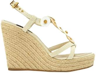 Louis Vuitton Beige Cloth Sandals