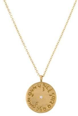 Me & Ro Me&Ro 10K Diamond Four Immeasurables Medallion Pendant Necklace