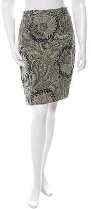 Etro Paisley Print Mini Skirt
