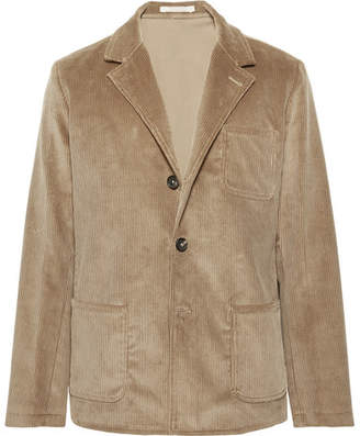 Massimo Alba Light-Brown Unstructured Cotton-Corduroy Blazer