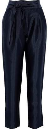 Maje Pack Belted Satin Tapered Pants