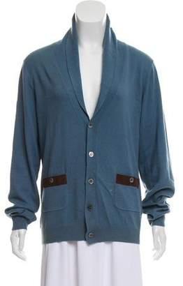 Paul & Joe Woven Button-Up Cardigan