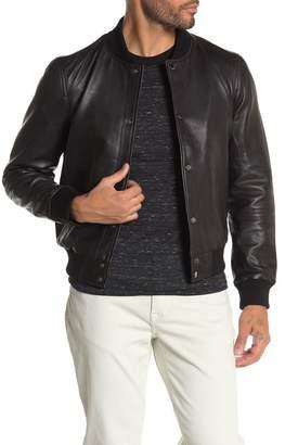 Joe's Jeans Front Snap Button Lamb Leather Jacket