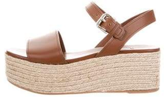 Prada Leather Espadrille Wedges