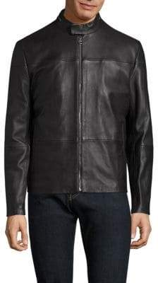 HUGO BOSS Lefox Lamb Leather Jacket