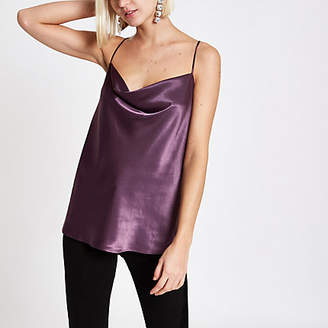 River Island Purple cowl neck cami top