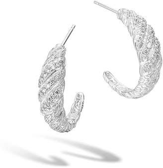 John Hardy Classic Chain Diamond Pavé Hoop Earrings