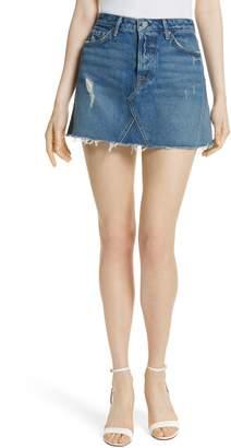 GRLFRND Eva Denim A-Frame Gusset Skirt