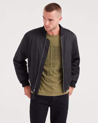 7 For All Mankind Military Strap Bomber in Black
