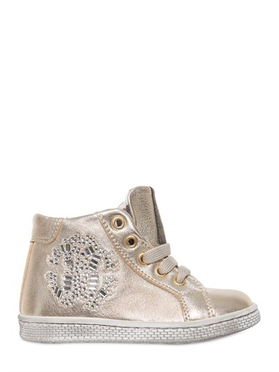Roberto Cavalli Laminated Leather Sneakers
