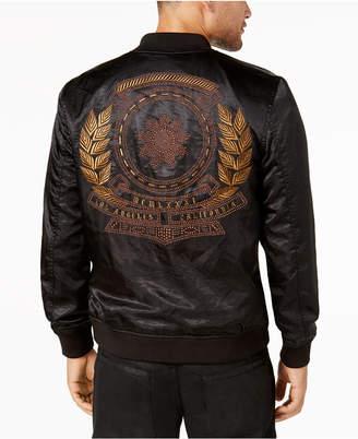 GUESS Men's Satin Zip-Front Jacket