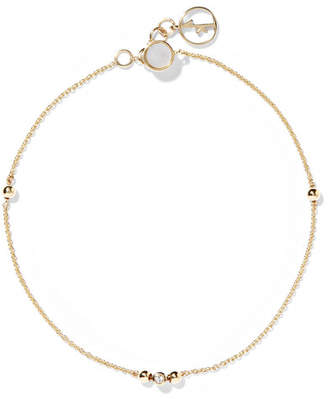 Mother of Pearl Anissa Kermiche - 14-karat Gold, Sapphire And Mother-of-pearl Bracelet
