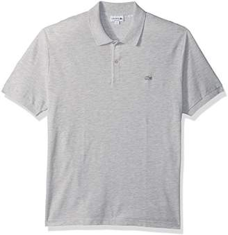 Lacoste Men's Short Sleeve Slubbed Pique Polo Dyed used-Regular Fit
