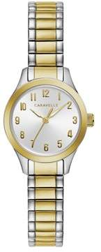 Bulova CARAVELLE Designed by Caravelle Women's Two-Tone Expansion Band Watch, Silver Dial - 45L177