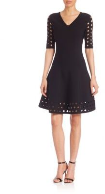 MILLY Cutout Fit & Flare Dress $495 thestylecure.com