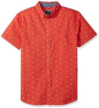 Lee Men's Short Sleeve Pattern Woven