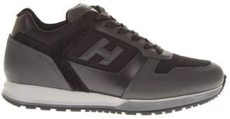 Hogan H321 Suede & Grey Leather Sneakers